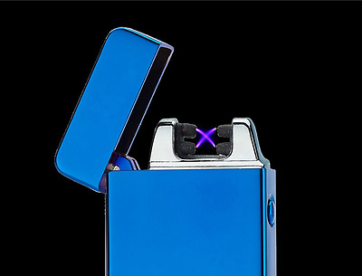 Plasma Electric Dual Arc Lighter USB Rechargeable Windproof Flameless #2