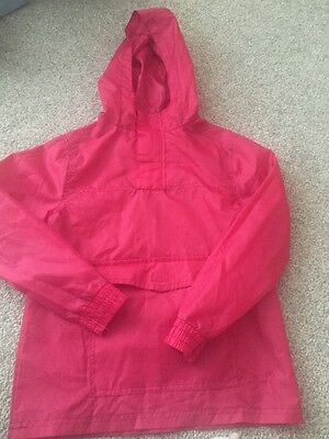 Pink Waterproof Roll Up Pocket Jacket  Size Medium (approx Age 8-10)