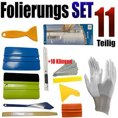 Folierung Rakel Set 11 Teilige Set - PROFI FOLIERUNGS SET  - Auto Folien