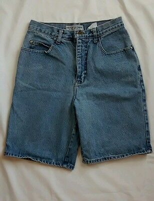 Vintage 90s High Waisted Mom Jean Denim Shorts Size 9 Made in USA