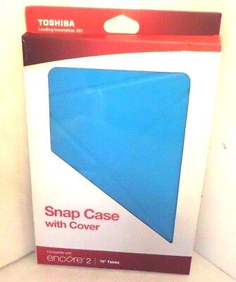 """Toshiba Encore 2 10"""" Snap Case with Blue Cover   PA1552U-1BLU"""