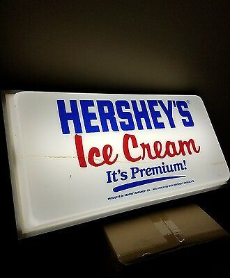 Vintage Hershey's Ice Cream Double Sided Light Up Hanging Sign