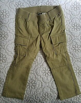 Baby Gap Boys/Girls Olive Cargo Pants 18-24 Months