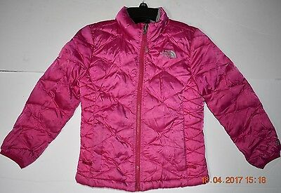 THE NORTH FACE Girls 550 Puffer Down Coat Jacket - Size 6 Pink XS