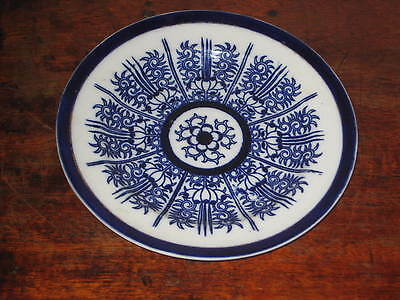 Coalport Lily Pattern Blue & White Plate 1870S