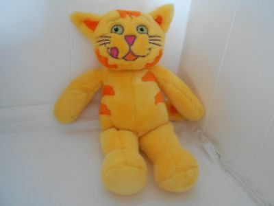 "Plush Stuffed Animal Meow Mix Company Cat 14"" Tall Fast Free Shipping Advertise"