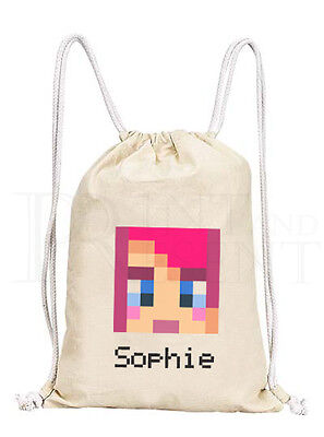 Personalised Twozies Drawstring Canvas Collectors// Pump// Gym Bag