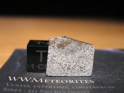 Meteorite Bouvante - Eucritre from France (July 30, 1978) - 0.65g crusted slice