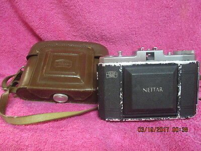 Vintage Zeiss Ikon Camera German Made 1940s? with Leather Case Zeiss Nettar