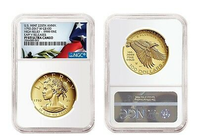 In Hand 2017 American Liberty 225th Anniversary Gold Coin NGC PF69 Early Release