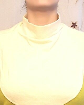 Mock Turtleneck Unisex Dickey Cotton Cream Color Turtle Neck YELLOW CREAM