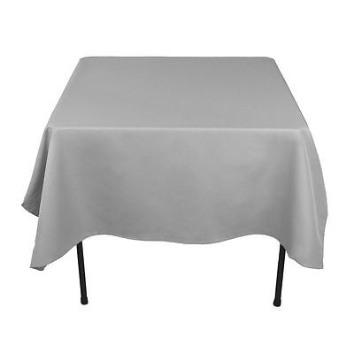 """8 packs Square Tablecloths 54""""x 54"""" inch USA Polyester Party Overlay 23 COLORS"""