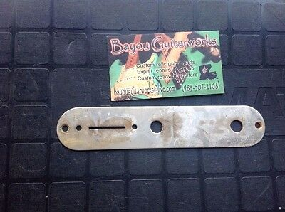 Fender telecaster nickel control plate aged