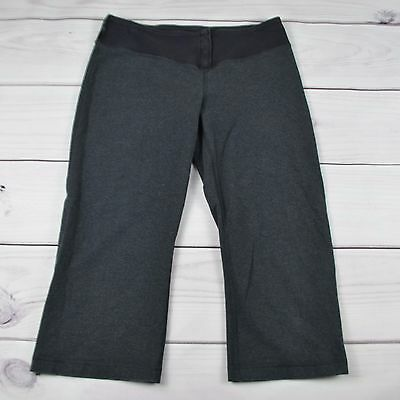 Womens Lululemon Crop Yoga Pants Capri 3/4 Length Gray Size 8
