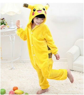 Halloween Pokemon Kids Pyjamas Kigurumi Cosplay Costume Pikachu Onesie Pajamas L
