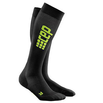 CEP Compression Women's Progressive+ Ultralight Run Socks Black/Green