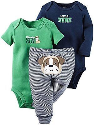 New With tag Carter's baby Boy Spring 3 Piece tops & Bottom Set Size 6 Months