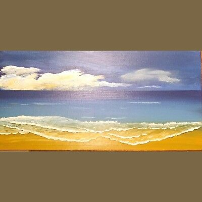 Acrelic  painting  relaxing  sea view with blue sky 12x24
