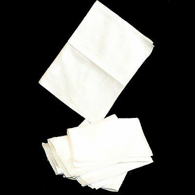 Set of 10 vintage damask off-white napkins measuring 44cm