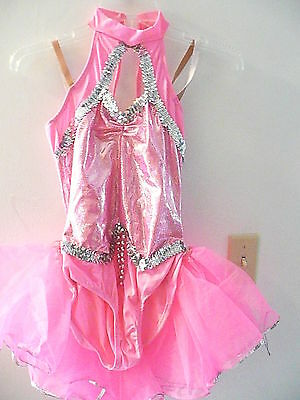Pink costume with silver trim. fits .small adult