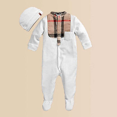 Baby Boys Romper with Bonnet Infant Clothes Toddler Long Sleeve Bodysuit
