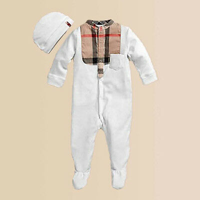 Baby Romper with Bonnet Infant Boys Clothes Toddler Long Sleeve Bodysuit