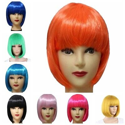 BOB Wigs Fashion Cosplay Costume Party 13 Women's Short Straight Full Wig Hair