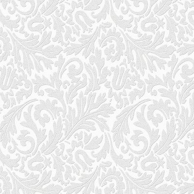 Martha Stewart Living 56 sq. ft. 1 Double Roll Damask Paintable Wallpaper New