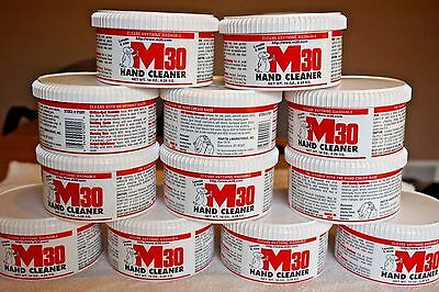 Case of 12 10 oz Jars M30 Hand Cleaner Lanolin and Aloe CLEANS ANYTHING WASHABLE