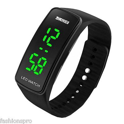 Skmei 1119 Men Women LED Sports Watch with Date Function Rubber Watchband