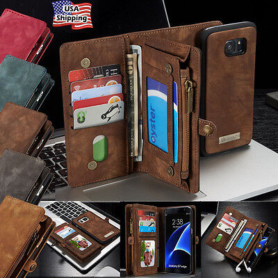Leather Removable Magnetic Wallet Flip Card Case F Samsung Galaxy Note 8/S8 Plus