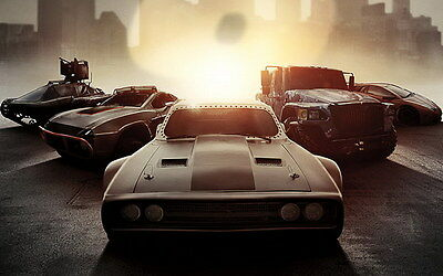 """025 Fast and Furious 8 - Vin Diesel Car Race Ation 2017 Movie 38""""x24"""" Poster"""