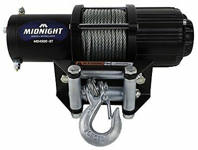 VIPER Midnight Series 4500lb ATVUTV Winch Kit with 50 feet STEEL Cable new