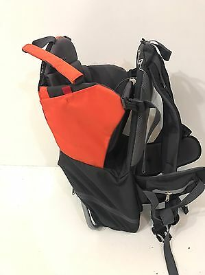 Phil & Teds Parade Day Backpack Bag Baby Carrier Orange Grey (Missing Minipack)