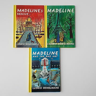 Lot of 3 Madeline's Books by Ludwig Bemelimans - Hardcover