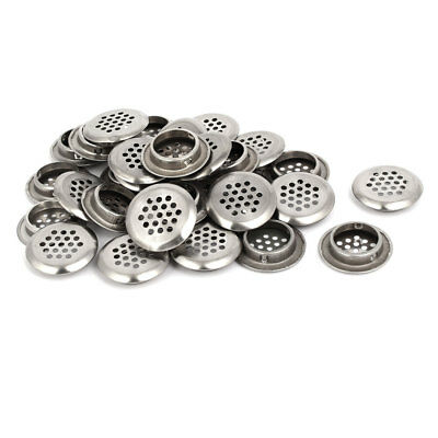Household Stainless Steel Round Shaped Mesh Hole Air Vents Louver 29mm Dia 30pcs