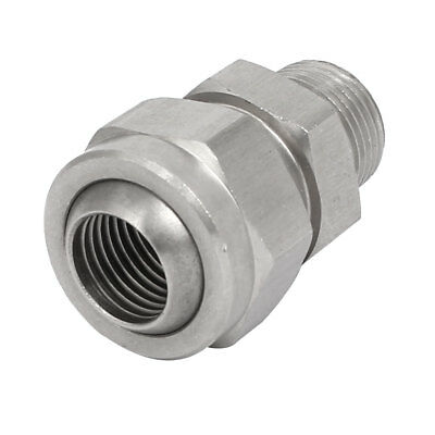 3/8BSPx1/4BSP 304 Stainless Steel Adjustable Nozzle Adapter Universal Joint
