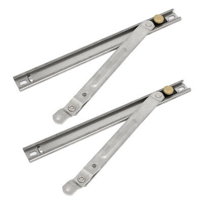 10-inch Length 304 Stainless Steel Casement Window Friction Hinges Stays 2pcs