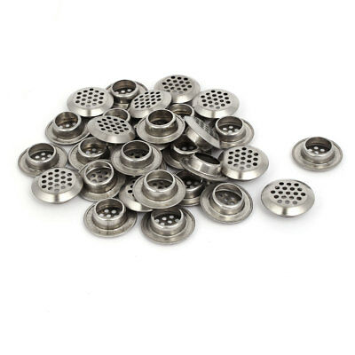Household Stainless Steel Round Shaped Mesh Hole Air Vents Louver 19mm Dia 30pcs