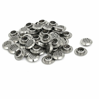 Household Stainless Steel Round Shaped Mesh Hole Air Vents Louver 19mm Dia 50pcs