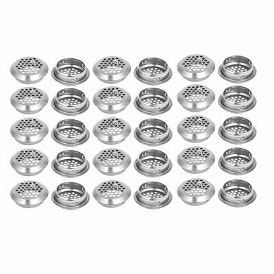 Household Stainless Steel Round Shaped Mesh Hole Air Vents Louver 35mm Dia 30pcs