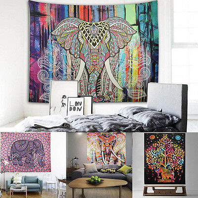Decoración India Bohemio MANDALA Tapiz Colgante de pared hippie MANTA Cuarto