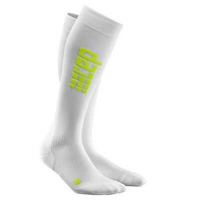 CEP Compression Women's Progressive+ Ultralight Run Socks White/Green