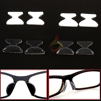 Lots 2 Pairs Silicon Anti-Slip Stick On Nose Pads for Eyeglass Sunglass Glasses