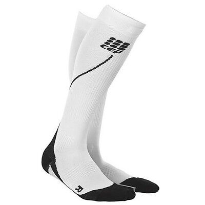 CEP Compression Women's Progressive+ Run Socks 2.0 White/Black