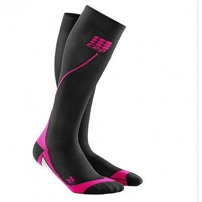 CEP Compression Women's Progressive+ Run Socks 2.0 Pink/Black