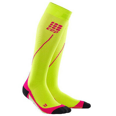 CEP Compression Women's Progressive+ Run Socks 2.0 Lime/Pink