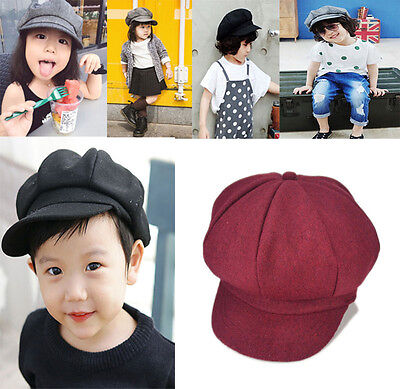 Kids Bailey Hat Toddler Infant Dome Beret Cap Headwear octagonal hat baby cap