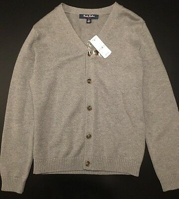 New Brooks Brothers Boys/Unisex Gray Sweater | Size M