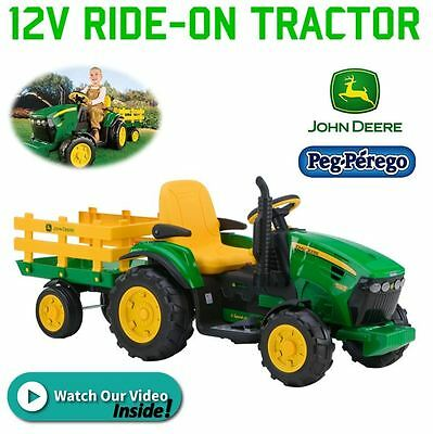 New Peg Perego John Deere Tractor Ride On Toy 12V Battery Electric Kids Children